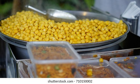 Steam chickpea sell by the street