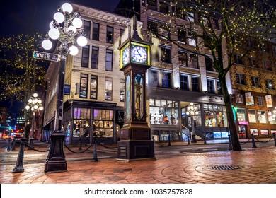Steam Clock, Gastown- Vancouver, British Columbia, Canada.