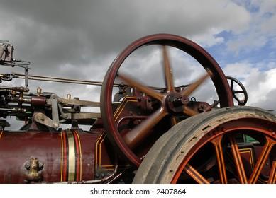 Steam engine flywheel