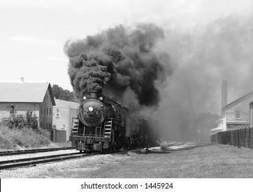 steam engine in monocolor