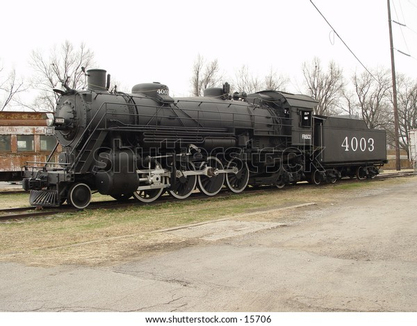 Steam engine on display in Ft. Smith, Arkansas