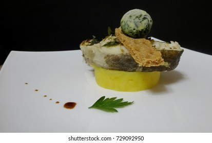 Steam fish with mashed potatoes