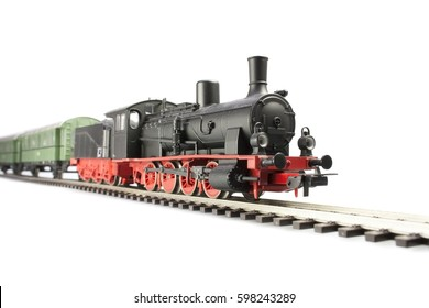 steam loco model isolated on white background