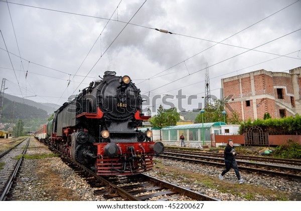 Steam Locomotive 4603 Bulgarian National Railway Stock Photo