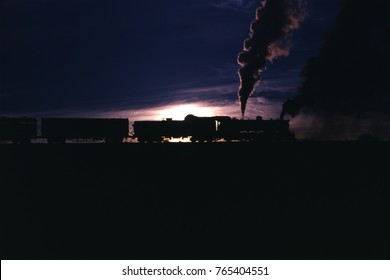 Steam Locomotive in the Darkness