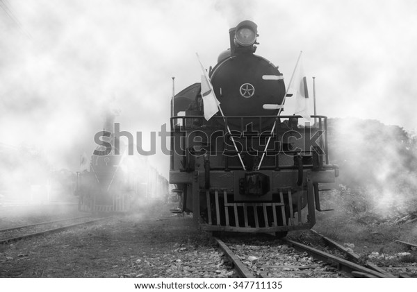 Steam Locomotive Japanese Troops World War Stock Photo (Edit