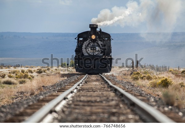 Steam Locomotive in Motion frontal