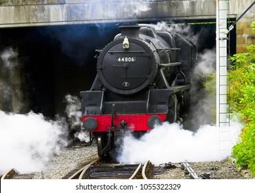 Steam Locomotive No. 44608 at Llangollen, North Wales