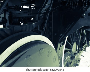 Steam locomotive with tender details .