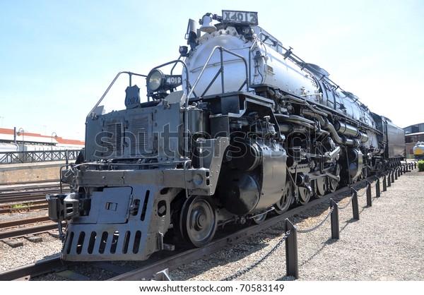 Steam Locomotive Union Pacific 4012 Steamtown Stock Photo