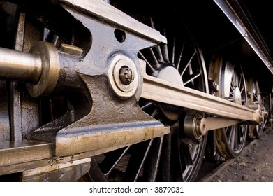 steam locomotive wheel and coupling rods
