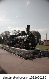 Steam locomotive-monument Ov-3705 Sarapul Udmurtia
