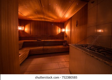 Steam room in a spa