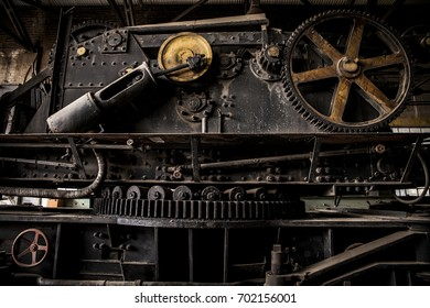steam train crane gears
