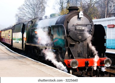 Steam train at Grosmont (North Yorkshire Moors Railway) station