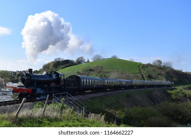 Steam train, passing by