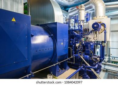 Steam turbine in a biofuel power plant
