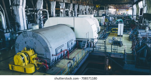 steam turbine at power plant