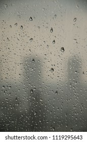 steam window of rain drop in black and white concept