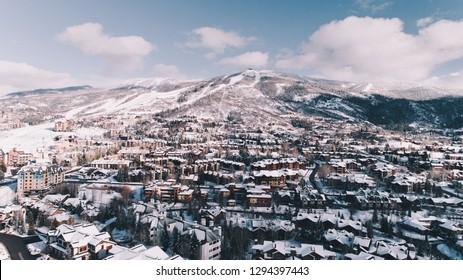 Steamboat Springs Colorado Aerial View