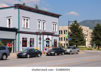 STEAMBOAT SPRINGS, USA - JUNE 19, 2013: People visit downtown in Steamboat Springs, Colorado. Steamboat Springs is a famous tourism and skiing resort in Colorado.