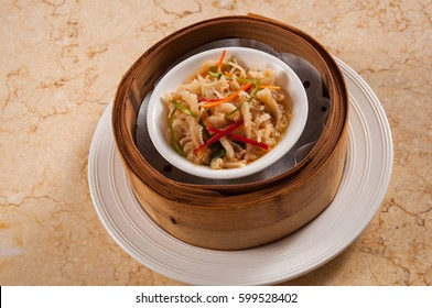 steamed beef tripe with ginger and scallions