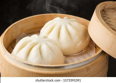 manjū (steamed bun) with meat filling