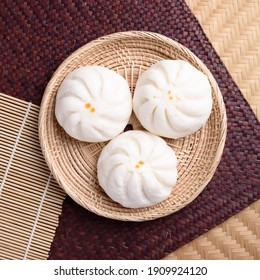 Steamed buns stuffed with minced pork, Asian food