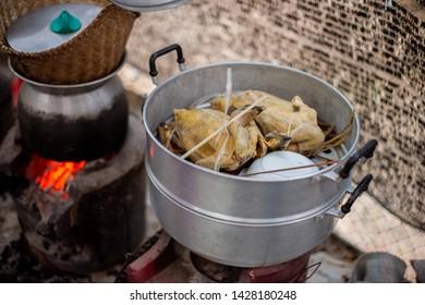 Steamed chicken two chicken tasty