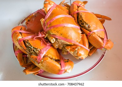 Steamed Crab on a white plate