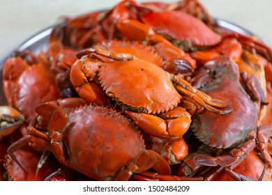 Steamed crabs delicious fresh seafood