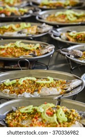 Steamed fish in spicy sauce. Thai foods