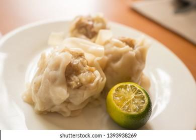 steamed pork siomai food photo