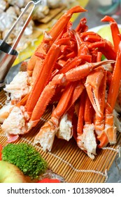 Steamed red crab legs