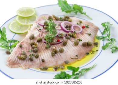 steamed skate wing with Caper olive oil