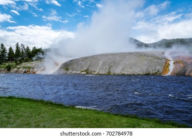 Steaming Rock by River