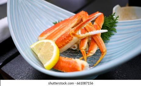 Steaming snow crab (suwai kani) in Japan