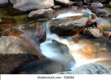 Steaming Stream in Yosemite National Park
