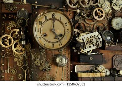 Steampunk ancient gears