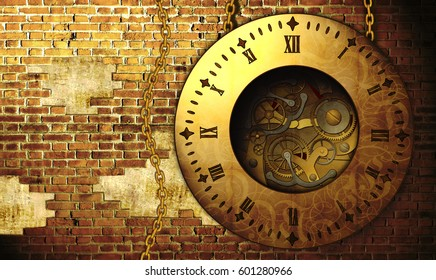 steampunk clock design
