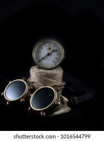 Steampunk Goggles and Gauge