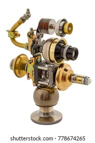 Steampunk toy. Steel and bronze parts.
