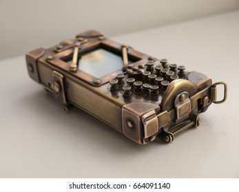 Steampunk vintage cell phone