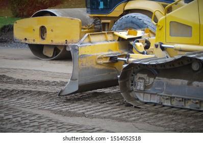 steamroller excavation construction machine hydraulic backhoe