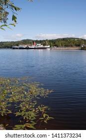 The steamship Maid of the Loch on Loch Lomond at Balloch, Dunbartonshire, Scotland
