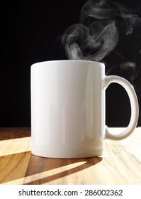 Steamy Blank White Coffee Mug