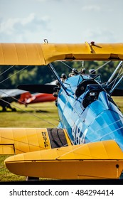 Stearman biplane at the 2016 Flying Circus Airshow in Bealeton, Virginia