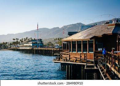 Stearn's Wharf, in Santa Barbara, California.