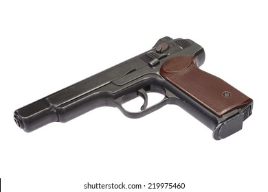 Stechkin automatic pistol APS isolated on white
