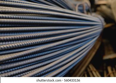 Steel bar.